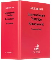 Sartorius 2, Internationale Verträge, Europarec...