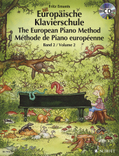 Europ�ische Klavierschule, Deutsch-Englisch-Franz�sisch, m. Audio-CD, The European Piano Method, M�thode de Piano europ�enne, Bd.2