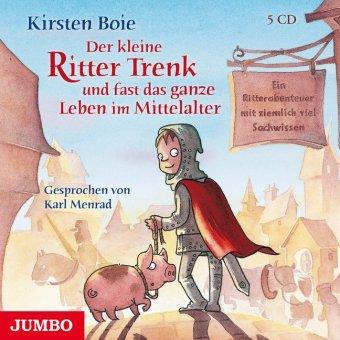 Der kleine Ritter Trenk und fast das ganze Leben im Mittelalter, 5 Audio-CDs
