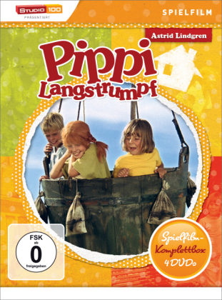 Pippi Langstrumpf Spielfilm-Box, 4 DVDs