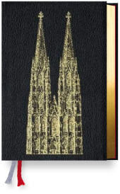 Gotteslob, Diözesanausgabe Bistum Köln, Rindleder schwarz, Domprägung