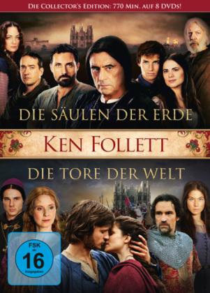 Die Säulen der Erde / Die Tore der Welt, 8 DVDs