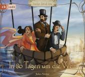 In 80 Tagen um die Welt, 3 Audio-CDs Cover