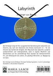 Halsanhänger Labyrinth silber-bronze