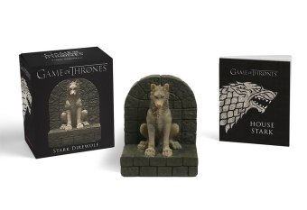 Game of Thrones: Stark Direwolf, w. miniature statue