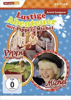 Lustige Abenteuer mit Pippi & Michel, 1 DVD