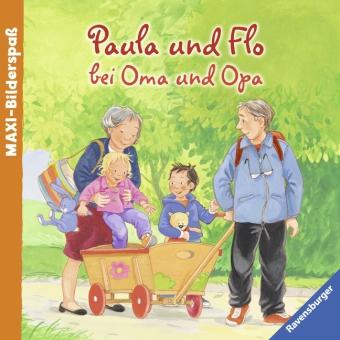 Paula und Flo bei Oma und Opa