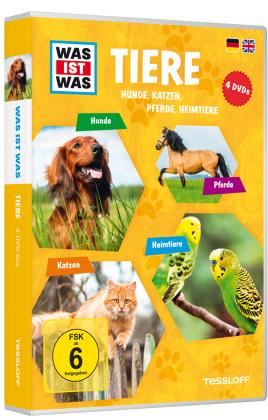 Tiere - Hunde, Katzen, Pferde, Heimtiere, 4 DVDs