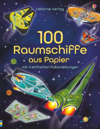 100 Raumschiffe aus Papier
