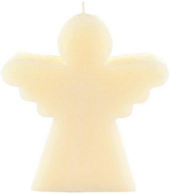 Engelkerze creme-weiß, Kerze mit Engelkontur