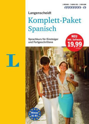 Langenscheidt Komplett-Paket Spanisch, 2 Bücher, 7 Audio-CDs, 1 DVD-ROM, MP3-Download