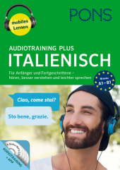 PONS Audiotraining Plus Italienisch, 4 Audio-MP...