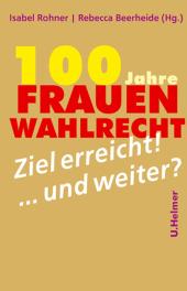 100 Jahre Frauenwahlrecht Cover
