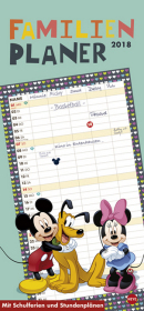 Disney Mickey Mouse & Friends Familienplaner 2018