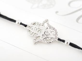 Armband mit Element & Kristallen - Schützende Hand