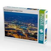 Blick auf die Innenstadt von Stuttgart bei Nacht (Puzzle)