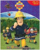 Feuerwehrmann Sam, Spielbuch + 12 Spielfiguren + Spielmatte Cover