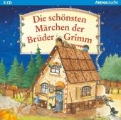 Die schönsten Märchen der Brüder Grimm, 5 Audio-CDs Cover