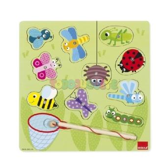 Magnetisches Insektenspiel (Holzpuzzle)