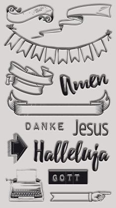 "Bible Art Journaling Stempelset ""Basics"""