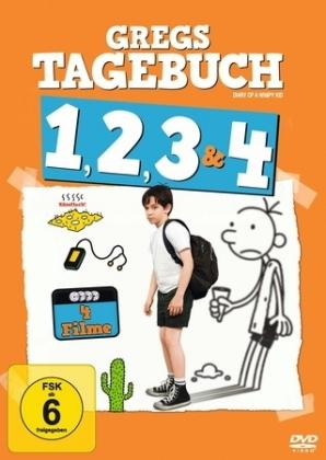 Gregs Tagebuch Box 1-4, 4 DVDs