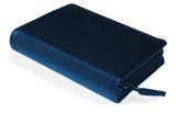 Gotteslobhülle - Rindsleder Deluxe. blau, m. Reißverschluss