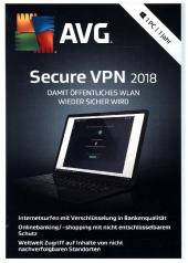 AVG Secure VPN 2018 - 1 Jahr, 1 DVD-ROM