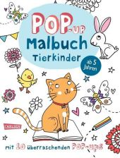 Pop-Up-Malbuch: Tierkinder