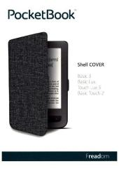 PocketBook Shell Cover light grey/black für Tou...