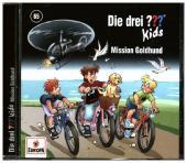 Die drei ??? Kids - Mission Goldhund, 1 Audio-CD Cover