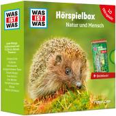WAS IST WAS Hörspielbox Natur und Mensch, 5 Audio-CDs u. Quizblock