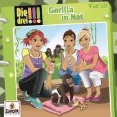 Die drei !!! - Gorilla in Not, 1 Audio-CD Cover