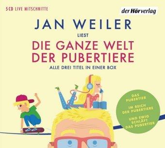 Die ganze Welt der Pubertiere. Drei Titel in einer Box, 5 Audio-CDs