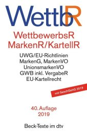 WettbewerbsR (WettbR), MarkenR und KartellR Cover