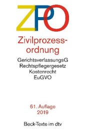 Zivilprozessordnung (ZPO) Cover