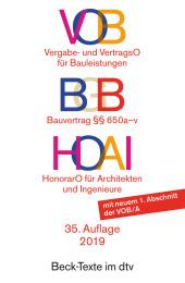 VOB, Vergabe- und VertragsO für Bauleistungen, HOAI HonorarO für Architekten und Ingenieure Cover