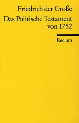 Das Politische Testament von 1752