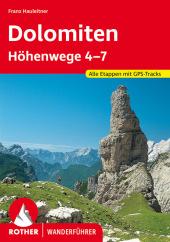 Rother Wanderführer Dolomiten-Höhenwege 4-7