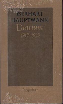 Diarium 1917 bis 1933