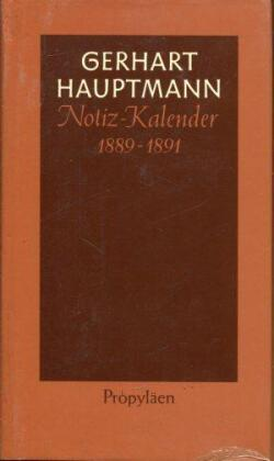 Notiz-Kalender 1889 bis 1891