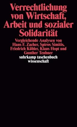 Verrechtlichung von Wirtschaft, Arbeit und sozialer Solidarität