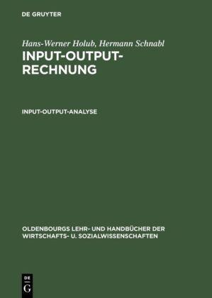 Input-Output-Rechnung, Input-Output-Analyse