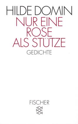 Nur eine Rose als Stütze