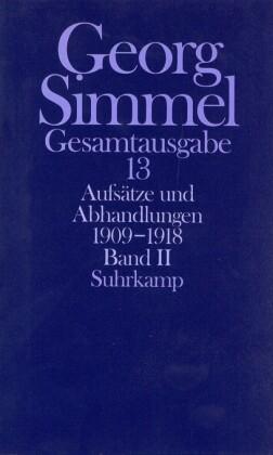 Aufsätze und Abhandlungen 1909-1918