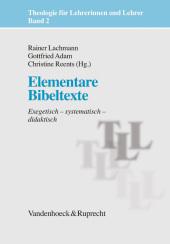 Elementare Bibeltexte Cover