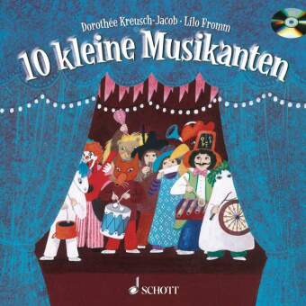10 kleine Musikanten, m. Audio-CD