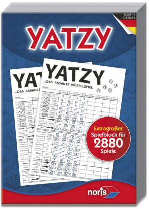 Knubbel / Yatzy Extragroßer Spielblock für 2880 Spiele (Spiel-Zubehör)