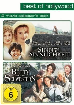 Sinn und Sinnlichkeit / Betty und ihre Schwestern, 2 DVDs, deutsche, englische u. französische Version