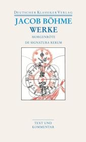 Die Morgenröte im Aufgang / De Signatura Rerum Cover