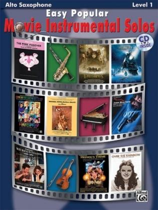 Easy Popular Movie Instrumental Solos, w. Audio-CD, for Alto Saxophone